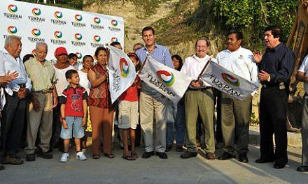 Dos nuevas obras de infraestructura urbana inician en Tuxpan