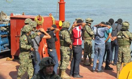 SEMAR realiza simulacro de Protecciòn de Buques e Instalaciones Portuarias