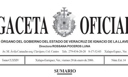 GACETA OFICIAL DEL MUNICIPIO DE TUXPAN, VERACRUZ