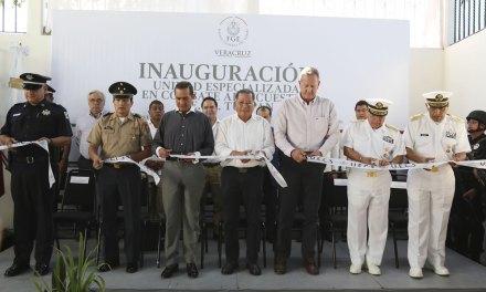 Inaugura Gobernador Unidad Regional de Combate al Secuestro, en Tuxpan