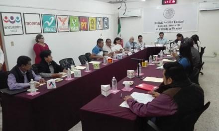 Sesiona Consejo Distrital del INE, presentan  informe de avance del proceso electoral