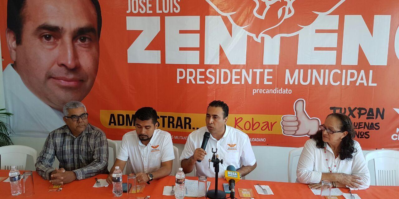 Partido Movimiento Ciudadano presenta a su  único precandidato