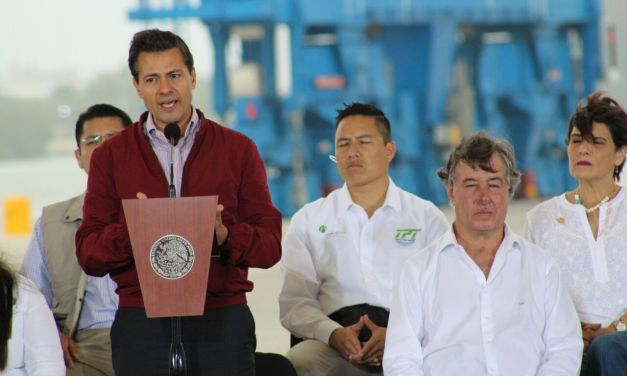 Inaugura EPN Tuxpan Port Terminal (TPT)