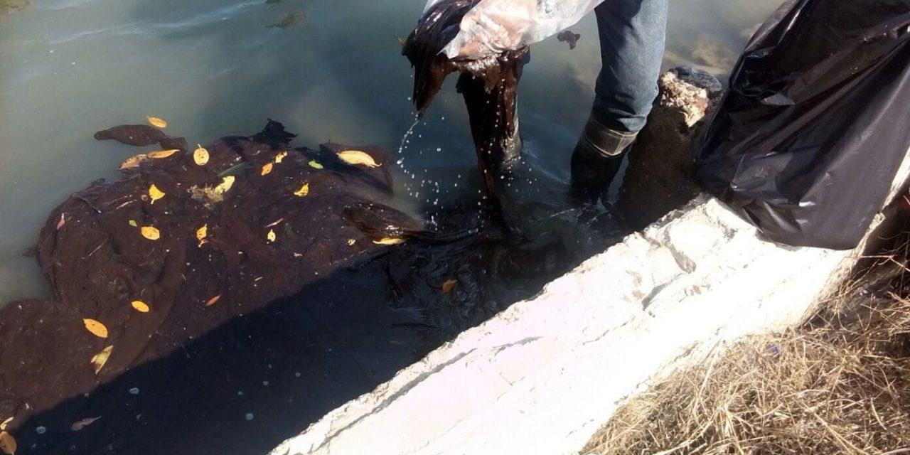 Derrame de hidrocarburo contamina laguna