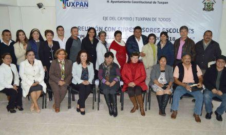 Supervisores escolares reconocen  acercamiento del gobierno municipal