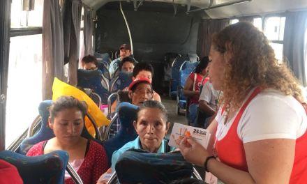 Concientizan sobre violencia de género en el Trasporte Público