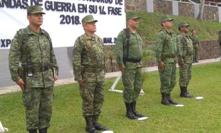 SEDENA realizan Concurso de Bandas de Guerra