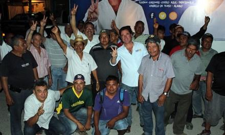 Continuaremos construyendo el cambio en Álamo: Arturo Esquitin