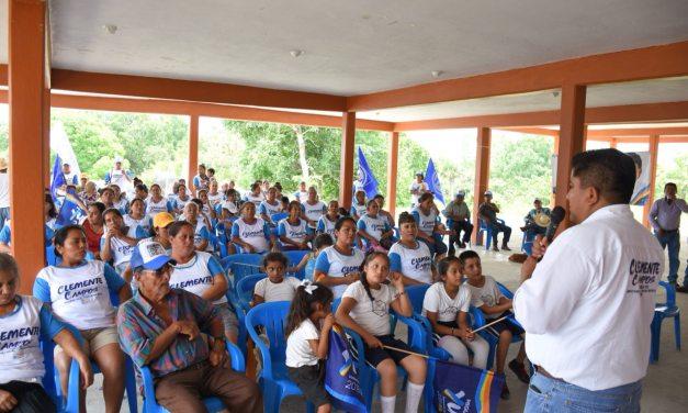 La zona rural será mi prioridad: Clemente Campos