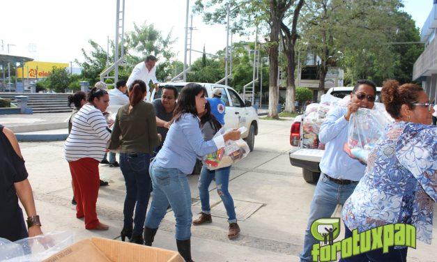 Álamo recibe ayuda del pueblo de Tuxpan