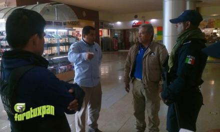 Reportan fuga de Gas en Plaza Crystal
