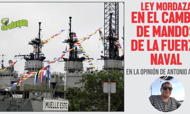 Ley Mordaza en el cambio de mandos de la Fuerza Naval