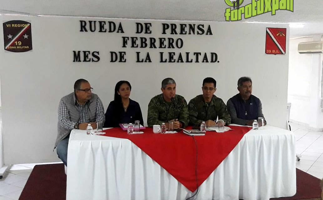 Actividades del Mes de Febrero: 19a Zona Militar