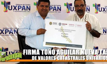FIRMA TOÑO AGUILAR NUEVA TABLA DE VALORES CATASTRALES