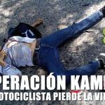 En Operación Kamikaze pierde la vida un motociclista