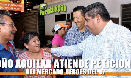 Presidente Municipal atiende a locatarios del mercado Héroes del 47