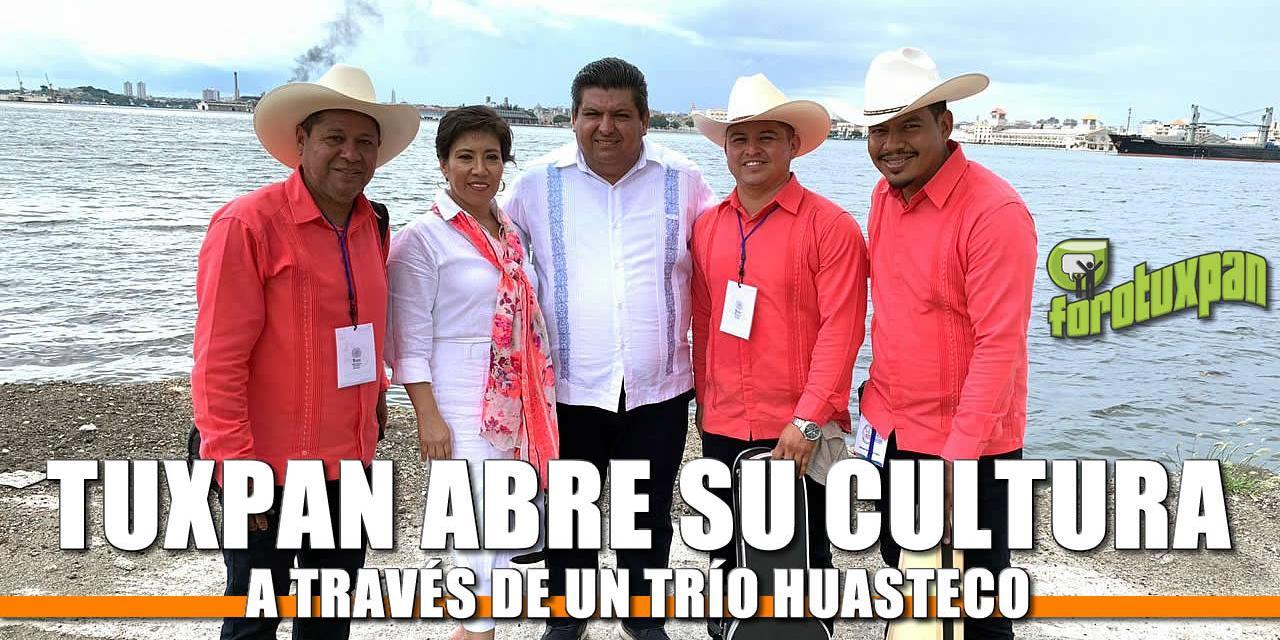 Tuxpan abre su cultura al mundo a través de un Trio Huasteco