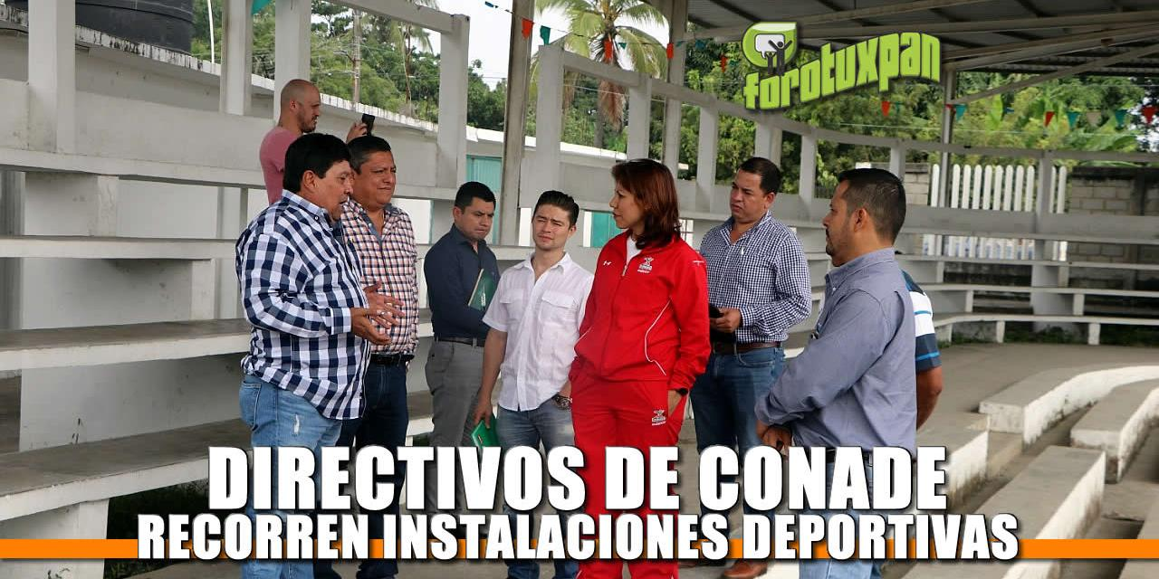 Directivos de CONADE recorren la Unidad Deportiva