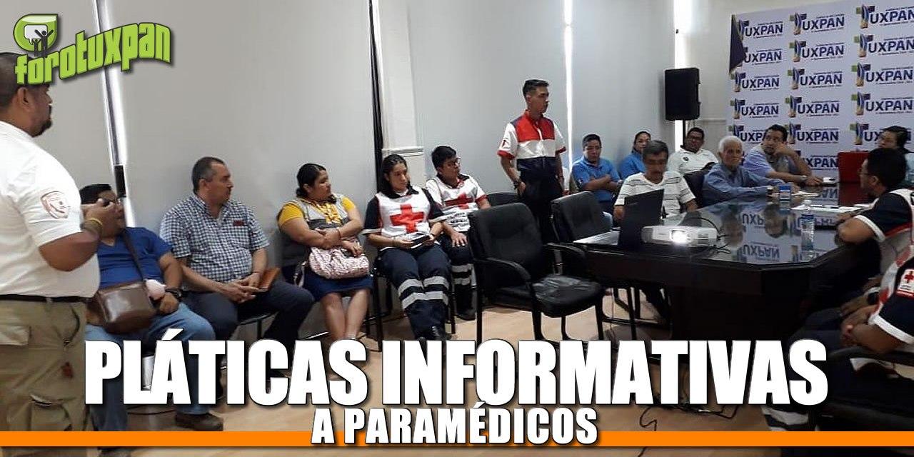 Platicas informativas a paramédicos