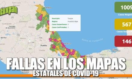 FALLAS EN LOS MAPAS DE COVID-19