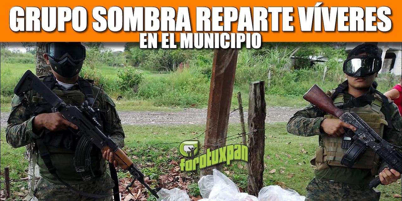 Grupo SOMBRA reparte víveres en el municipio
