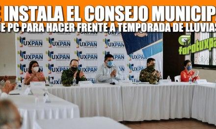SE INSTALA EL CONSEJO MUNICIPAL DE PROTECCIÓN CIVIL PARA HACER FRENTE A LA ÉPOCA DE LLUVIAS.