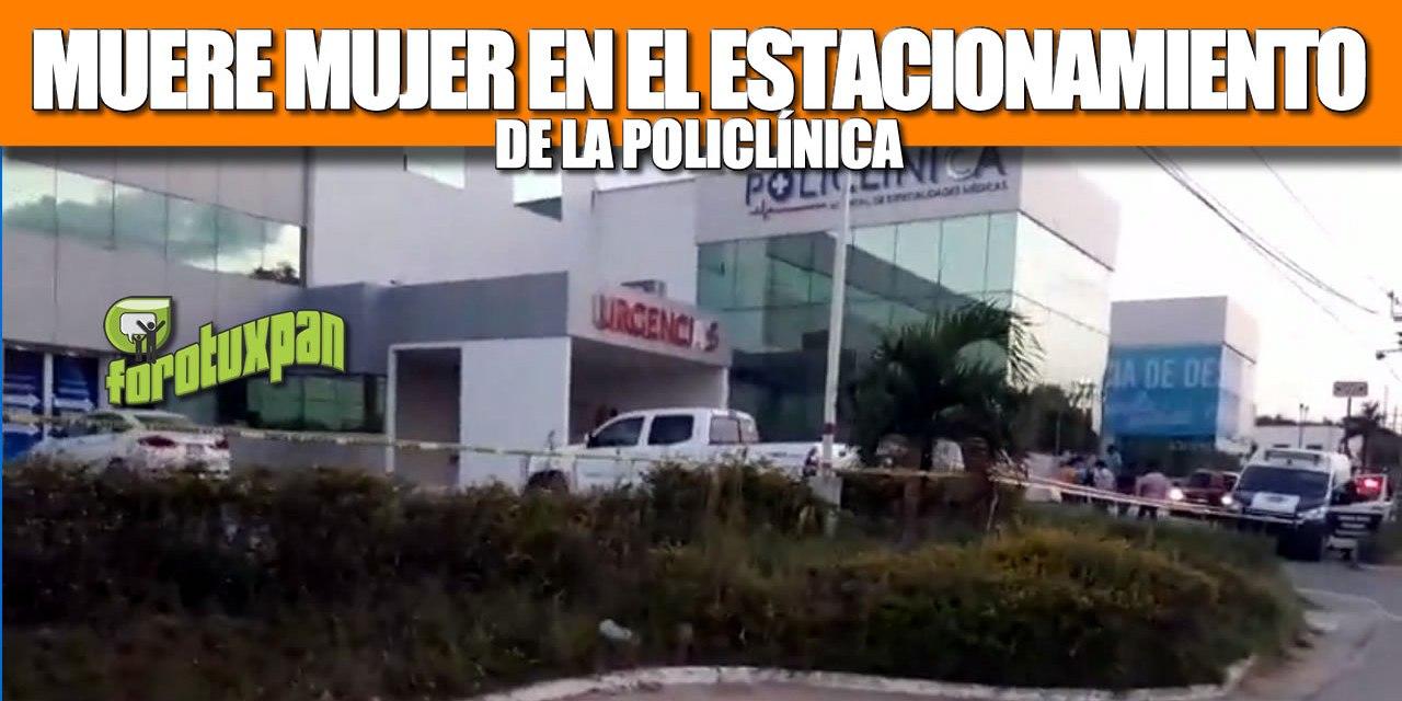 MUERE MUJER EN EL ESTACIONAMIENTO DE LA POLICLÍNICA