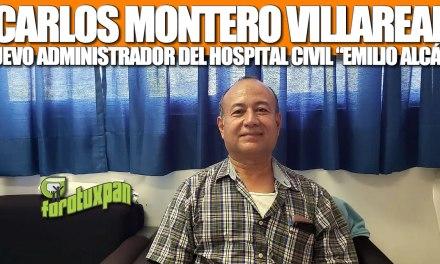 Carlos Montero Villareal, nuevo administrador del Hospital Civíl EMILIO ALCÁZAR
