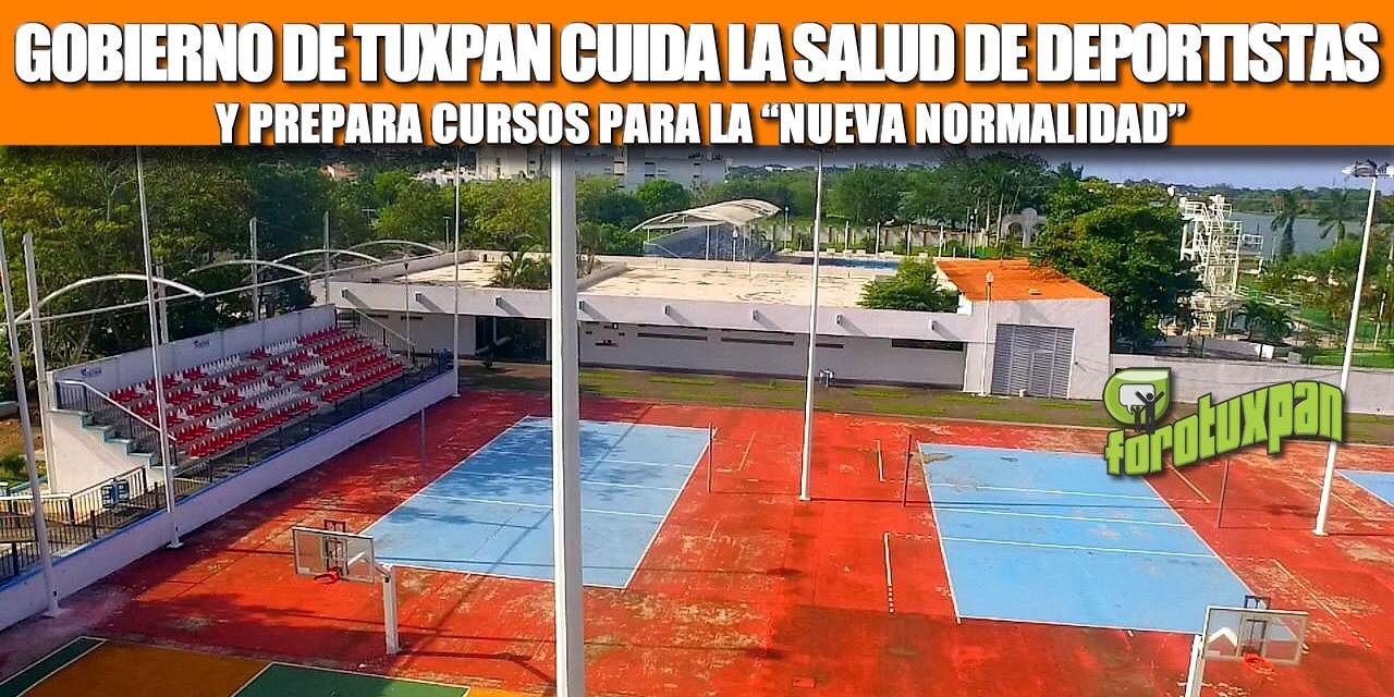 """GOBIERNO DE TUXPAN CUIDA LA SALUD DE DEPORTISTAS Y PREPARA CURSOS PARA LA """"NUEVA NORMALIDAD"""""""