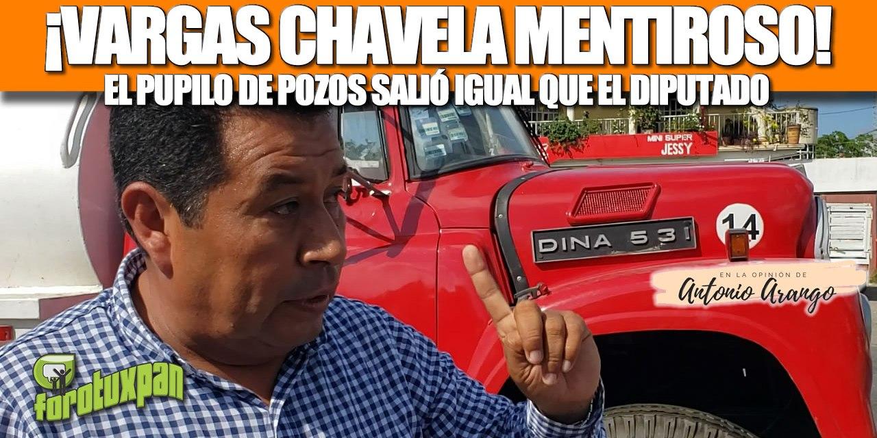 ¡VARGAS CHAVELA MENTIROSO! EL PUPILO DE POZOS SALIÓ IGUAL QUE EL DIPUTADO