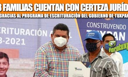 558 FAMILIAS CUENTAN CON CERTEZA JURÍDICA GRACIAS AL PROGRAMA DE ESCRITURACIÓN DEL GOBIERNO DE TUXPAN