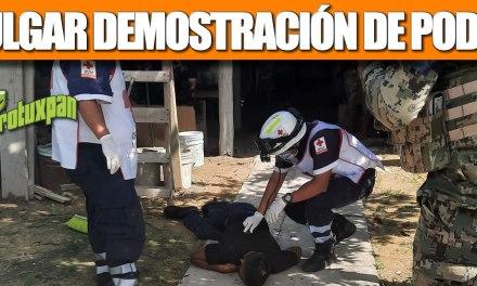 VULGAR DEMOSTRACIÓN DE PODER