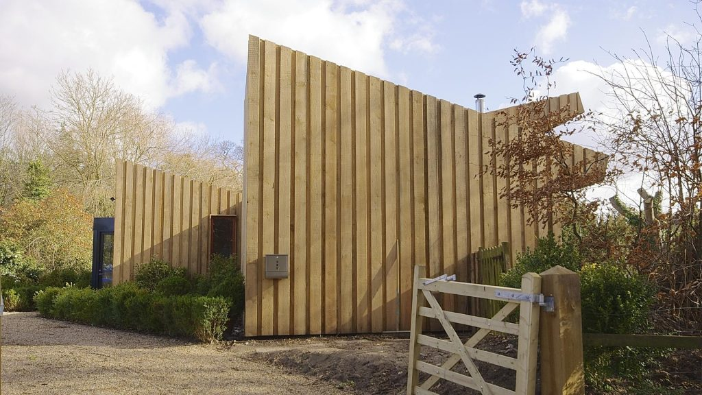 A new-build Passive house (Passivhaus) in the Norfolk Broads.