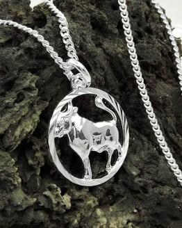 Stier Anhänger mit Kette Tierkreiszeichen