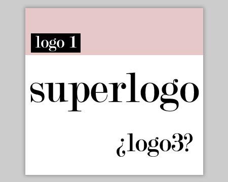 El logotipo cuánto más grande mejor ;S