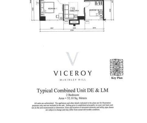 Two Bedroom Unit (Typical Combined Unit DE & LM)