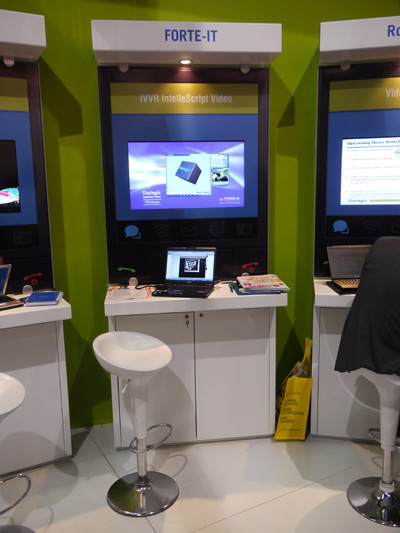 Стенд, где посетители GSMA Mobile World Congress со всего мира могли