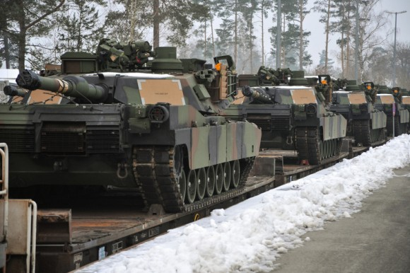 EAS M1A2 tanks arrive in Grafenwoehr