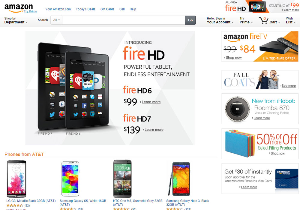Amazon screenshot website healthy