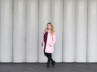 Pink Coat in Washington, DC | For the Glitz
