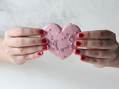Pink and Red Valentine Manicure | For the Glitz