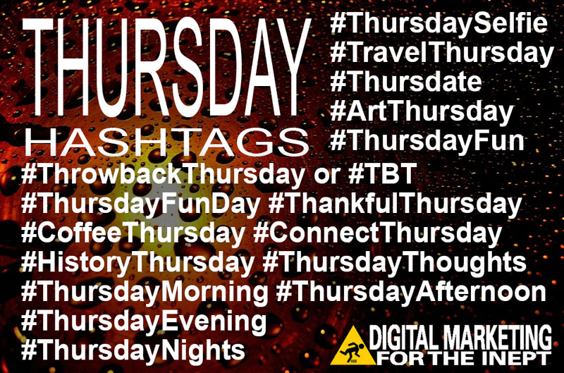 Thursday Hashtags
