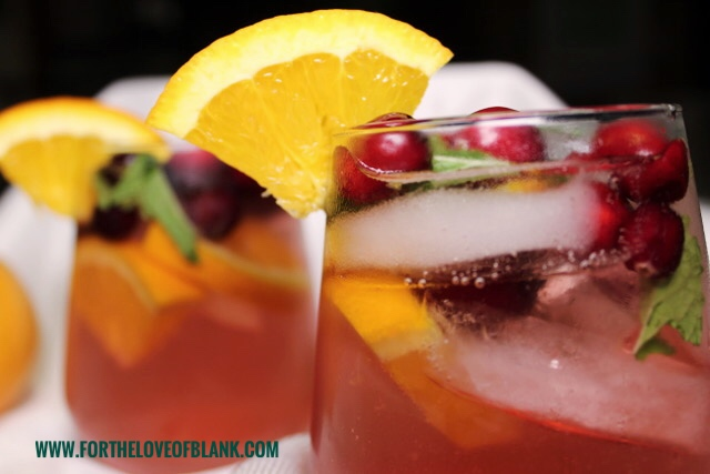 Holiday Sparkling Cranberry-Mint Sangria Recipe