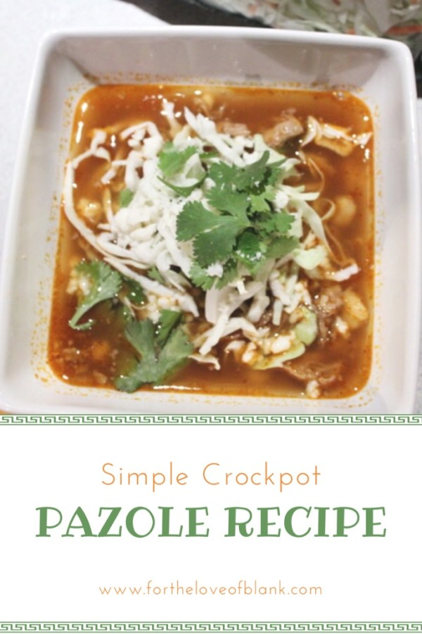 This Crockpot Pazole Recipe is easy and so delicious! It is the perfect cold weather comfort food!