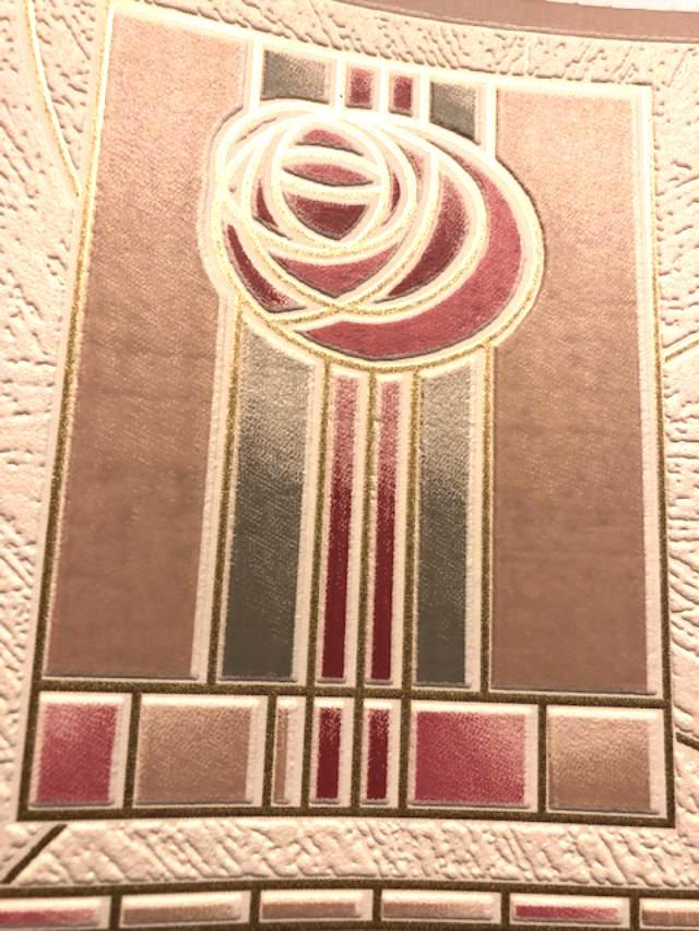 Art Deco Wallpaper Border Textured Geometric Rose 95503 Free Ship