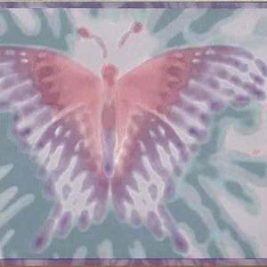 Girls Butterfly Wallpaper Border Pink Purple Green TYE1004 FREE Ship