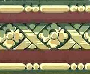 Red Green Vintage Wallpaper Border Lattice 1005-7101 FREE Ship