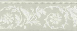 green cream floral wallpaper border, taupe, off-white, cottage, flowers, leaves, scroll, bedroom, dining room