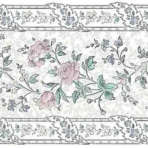 Stencil Vintage Wallpaper Border Floral Pink XE1043B FREE Ship