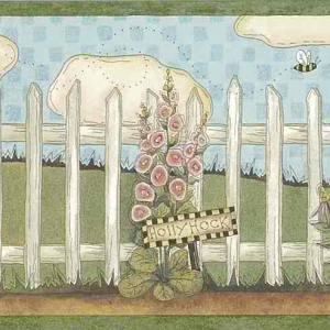 Skeps Beehive Vintage Wallpaper Border Floral Kitchen ALB3747 FREE Ship